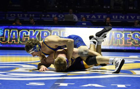 Jacks wrestling continues dominance in Big 12 duals