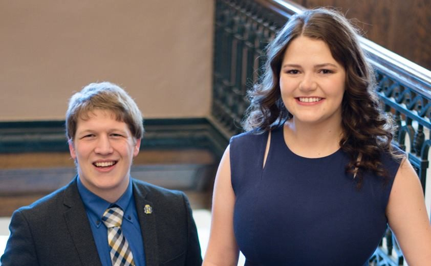KAYLA+BOER%0ASpencer+Harwood+and+Allyson+Monson+are+the+only+presidential+ticket+in+the+SA+election.+Their+goal+is+to+bring+students+together+through+their+platform.