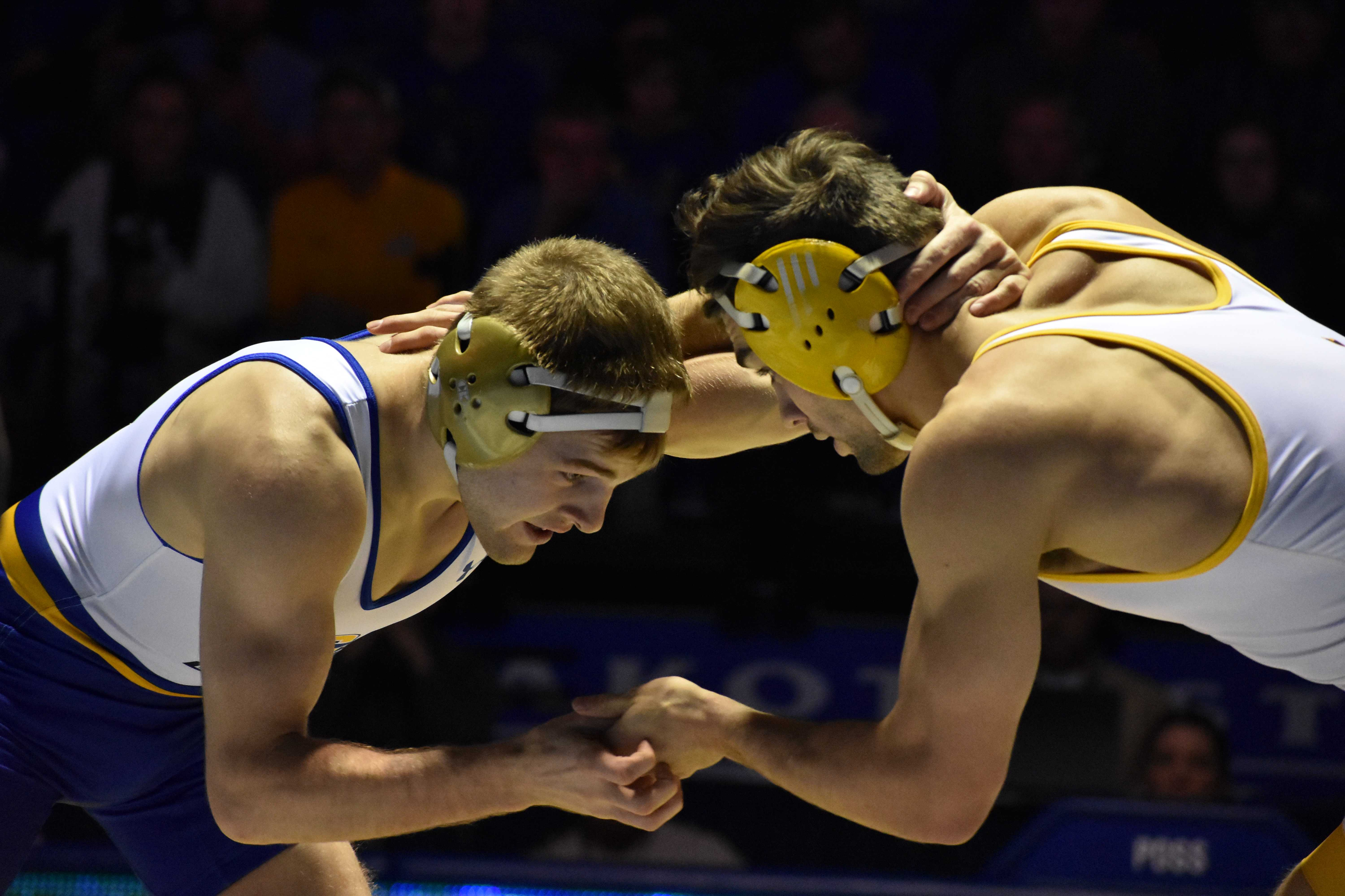 FILE PHOTO Junior Seth Gross won the 133-pound title at the NCAA Division I Tournament March 17 at Quicken Loans Arena in Cleveland, Ohio.