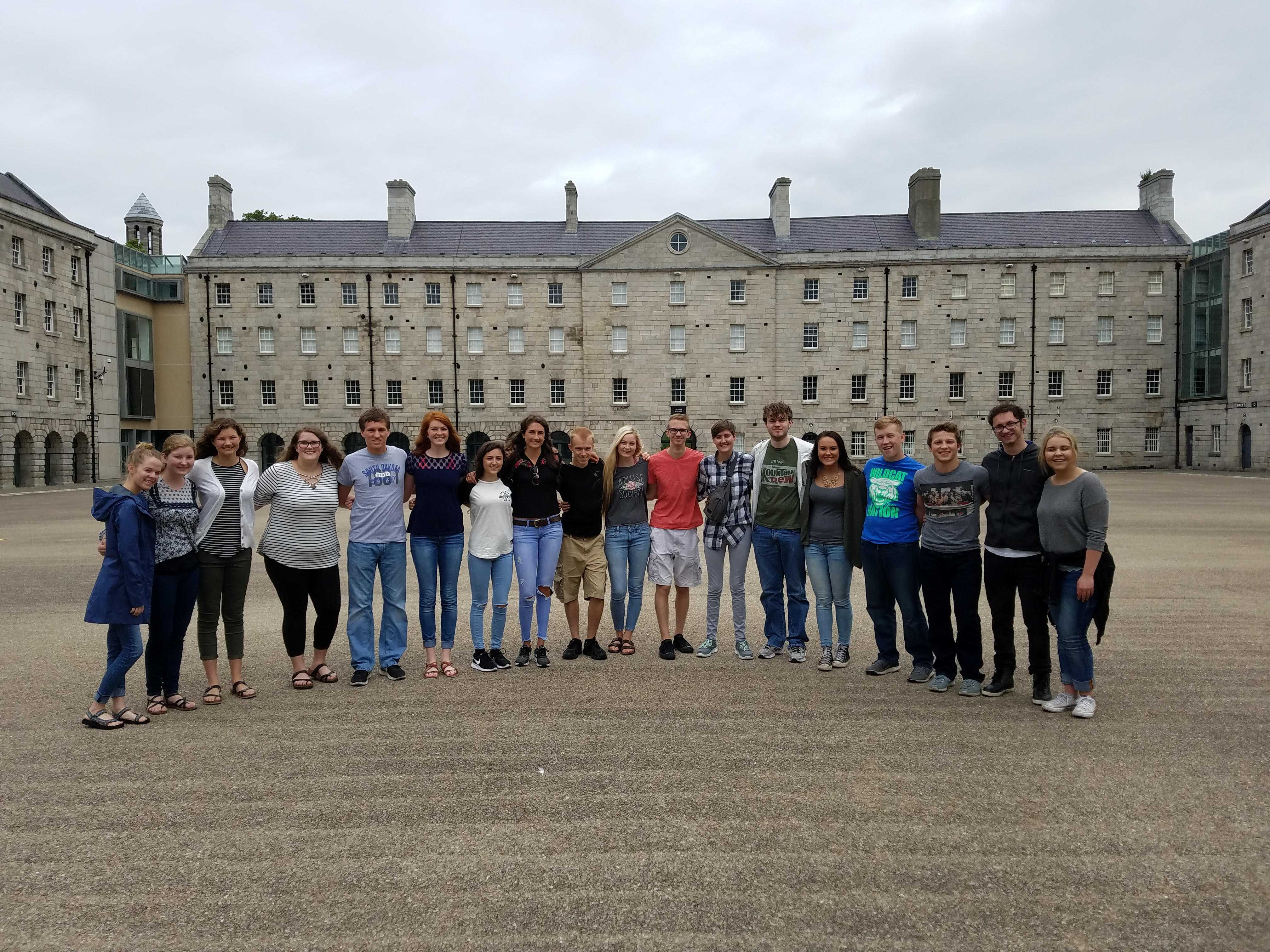 SUBMITTED SDSU students take a pre-freshman study abroad experience to Ireland in the summer of 2017. The group went abroad before they moved on campus at SDSU in fall of 2017.