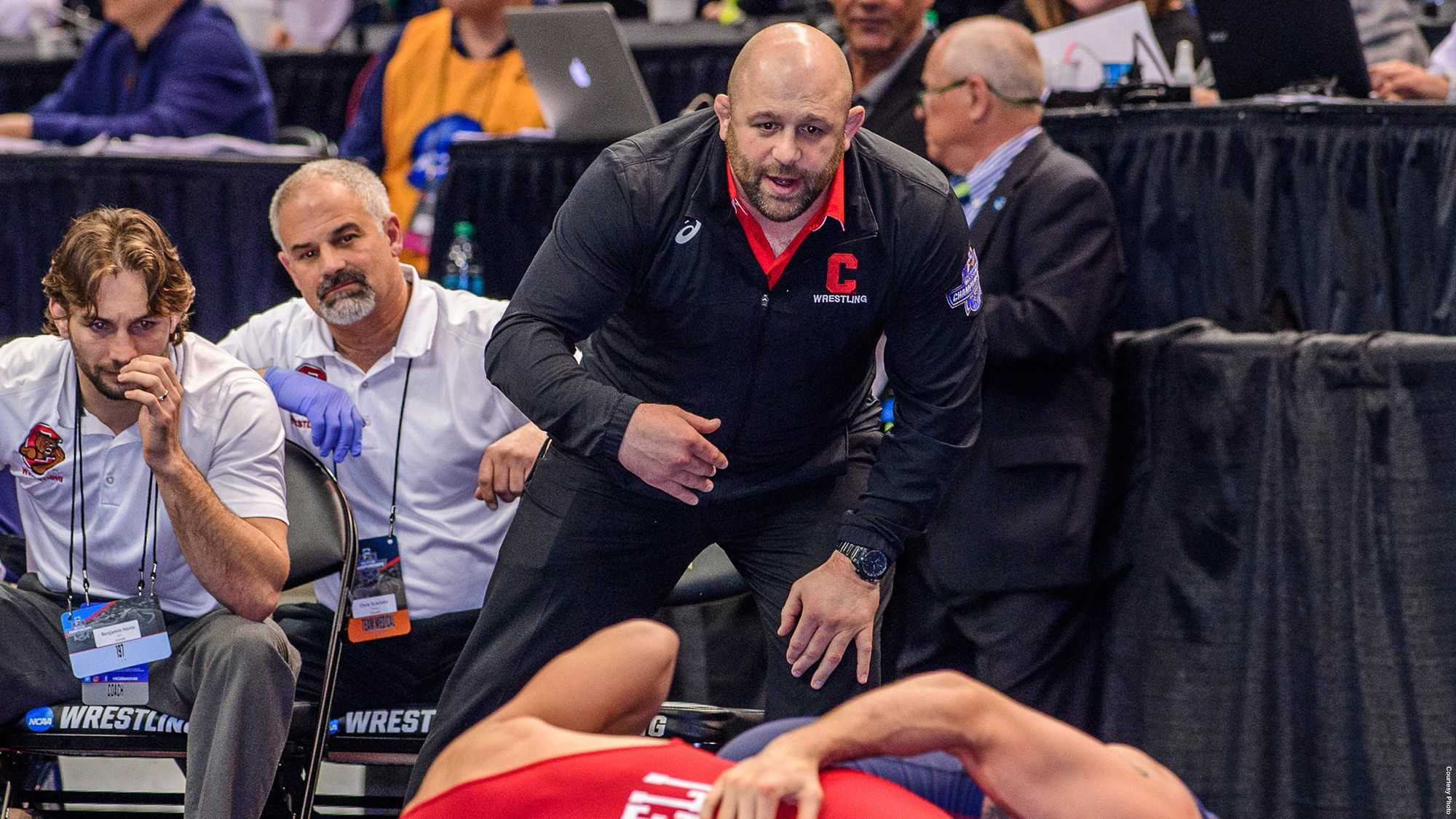 Damian Hahn was an assistant and associate coach for Cornell for 12 years. During his tenure, the Big Red won 11 Eastern Intercollegiate Wrestling Association titles and had 50 All-Americans.