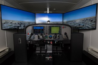 In addition to flights, participants will be able to fly in the aviation program's simulator May 10-11.