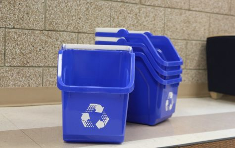 Recycling bins new to residence halls this semester