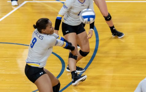 Volleyball notches first win of 2018