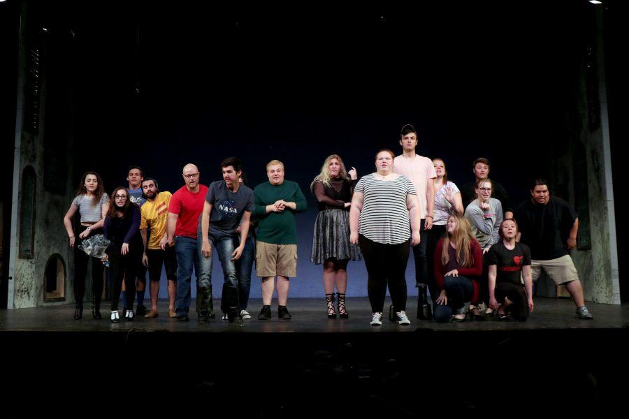 MIRANDA+SAMPSON+The+cast+of+%22The+Addams+Family%22+rehearses+in+Doner+Auditorium+Monday%2C+Sept.+24.+