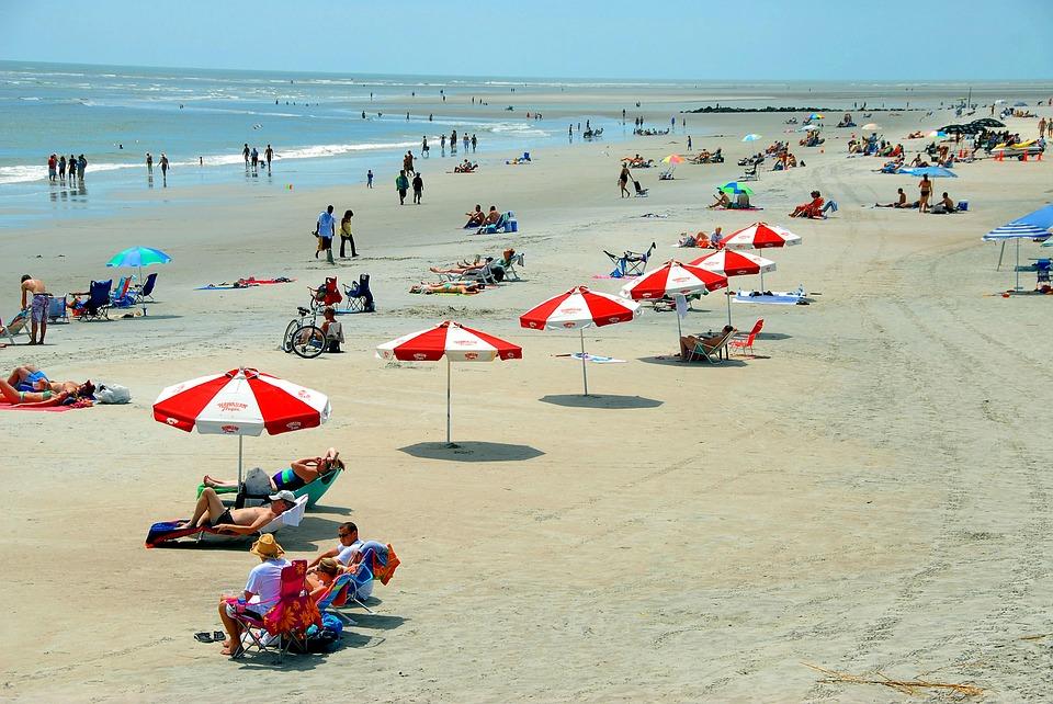 Recreation People Beach Day Leisure Fun