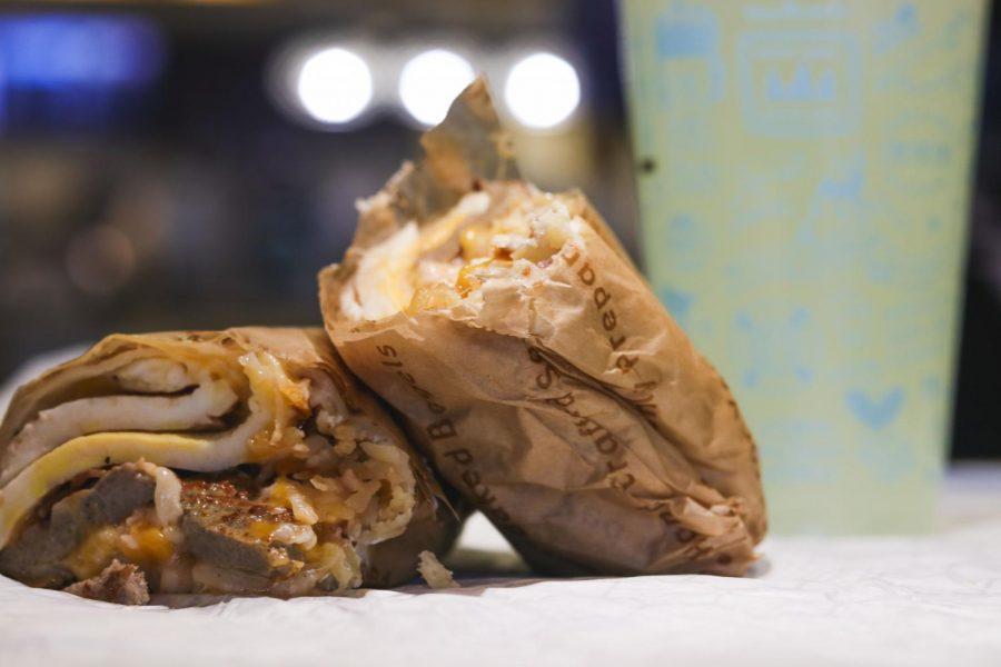 Einstein's Big Breakfast Burrito impresses